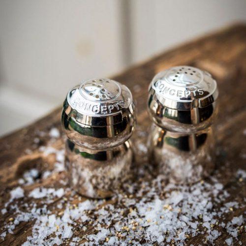 Champagne Cork Salt & Pepper Set 2