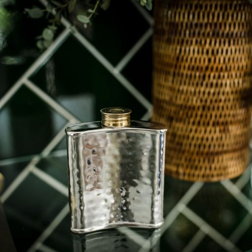 Hip Flask With Cartridge Lid