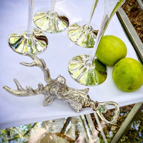 Silver Stag Bottle Opener