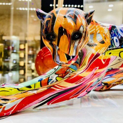 graffiti art cheetah