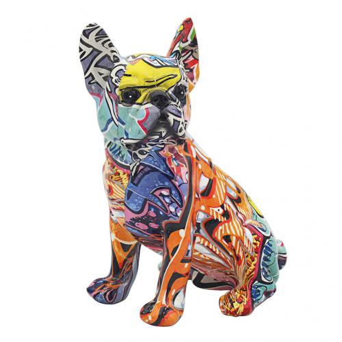 graffiti art - sitting french bulldog