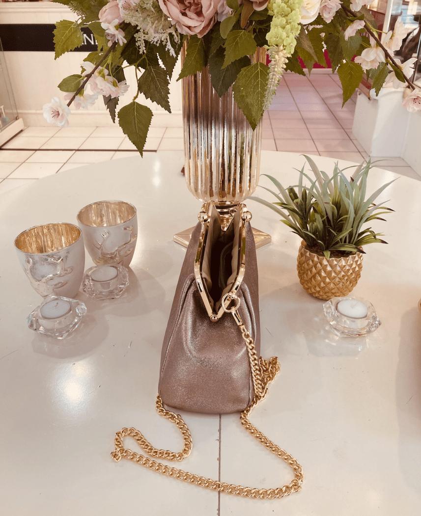Carmella Gold Leather Hand Bag 4Carmella Gold Leather Hand Bag