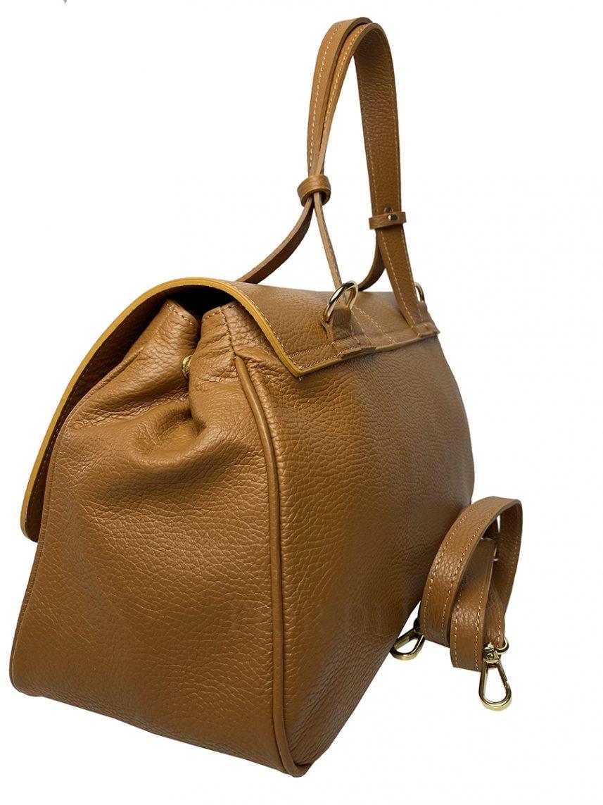 Mia Leather Handbag tan