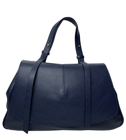 Mia Leather Bag Navy