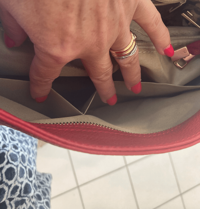 Mia Leather Bag Red