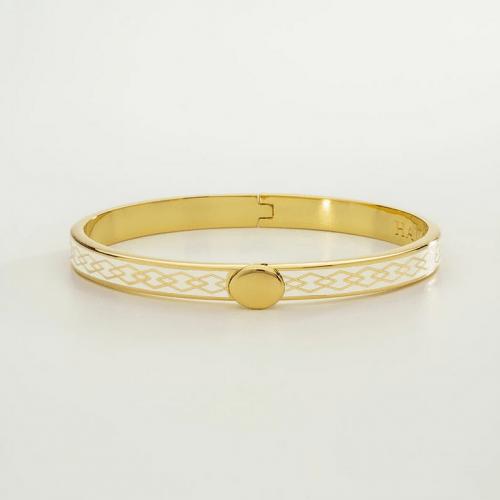 Skinny Parterre Chain Cream & Gold Bangle