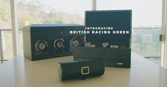 British Racing Green 10 Piece Watch Box with Storage