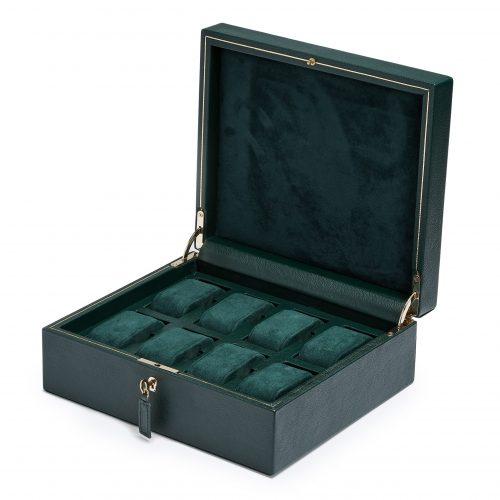 British Racing Green 8 peice watch box