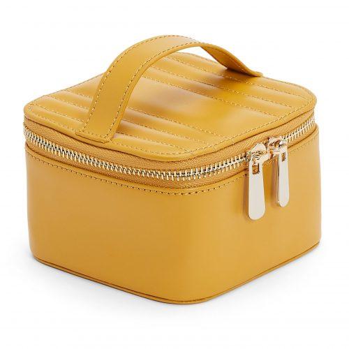 Maria Zip Jewellery Cube Mustard