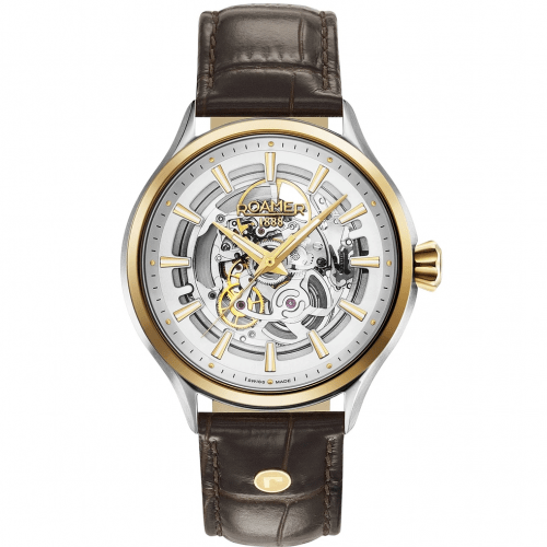 Mens Roamer Competence Skeleton Automatic Watch