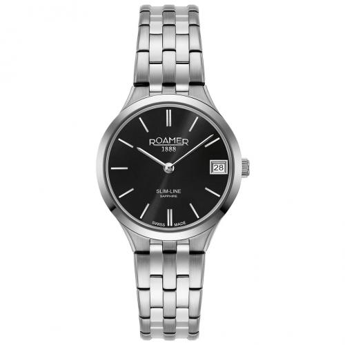 Roamer Ladies Black Slim-Line Classic Watch