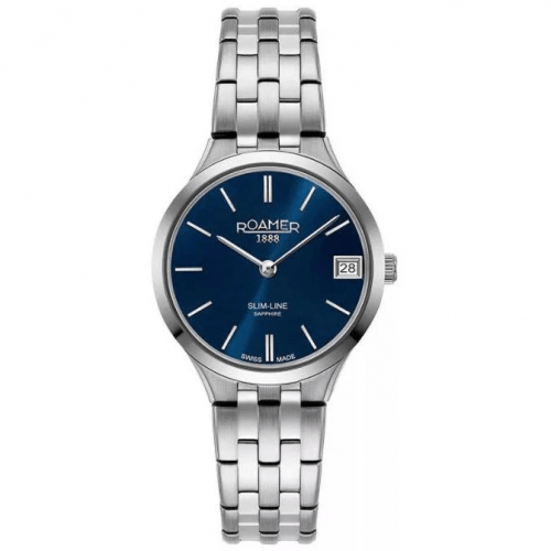 Roamer Ladies Blue Slim-Line Classic Watch