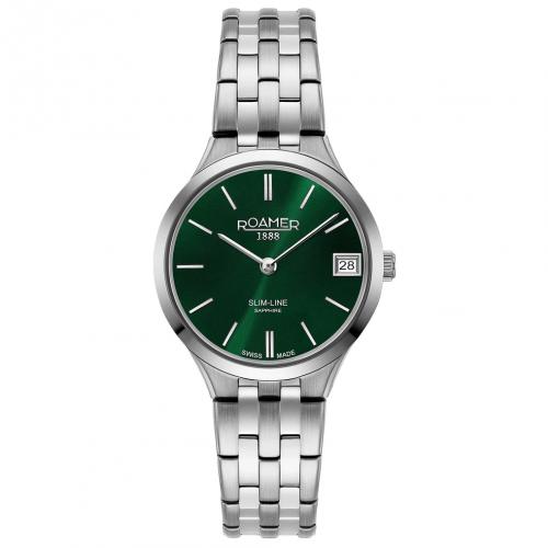 Roamer Ladies Green Slim-Line Classic Watch