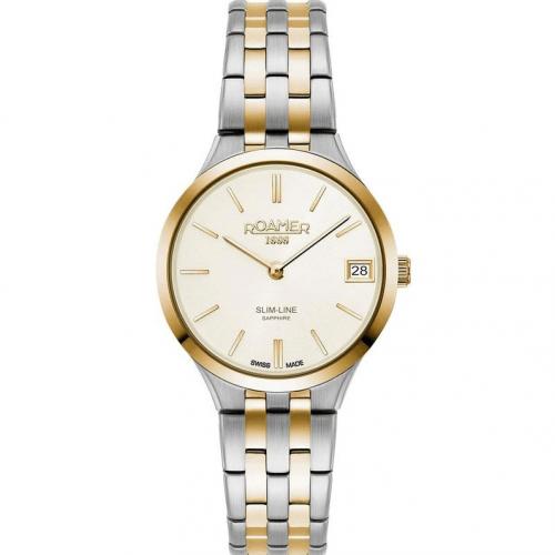 Roamer Ladies Two Tone Slim-Line Classic Watch gold