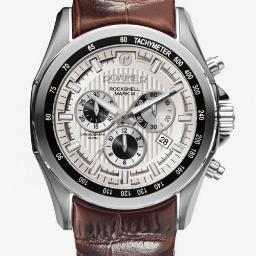 Roamer Men's Brown Rockshell Mark III Chrono Watch