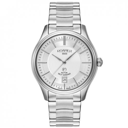 Roamer Men's Silver Rotopower Mechanical Watch