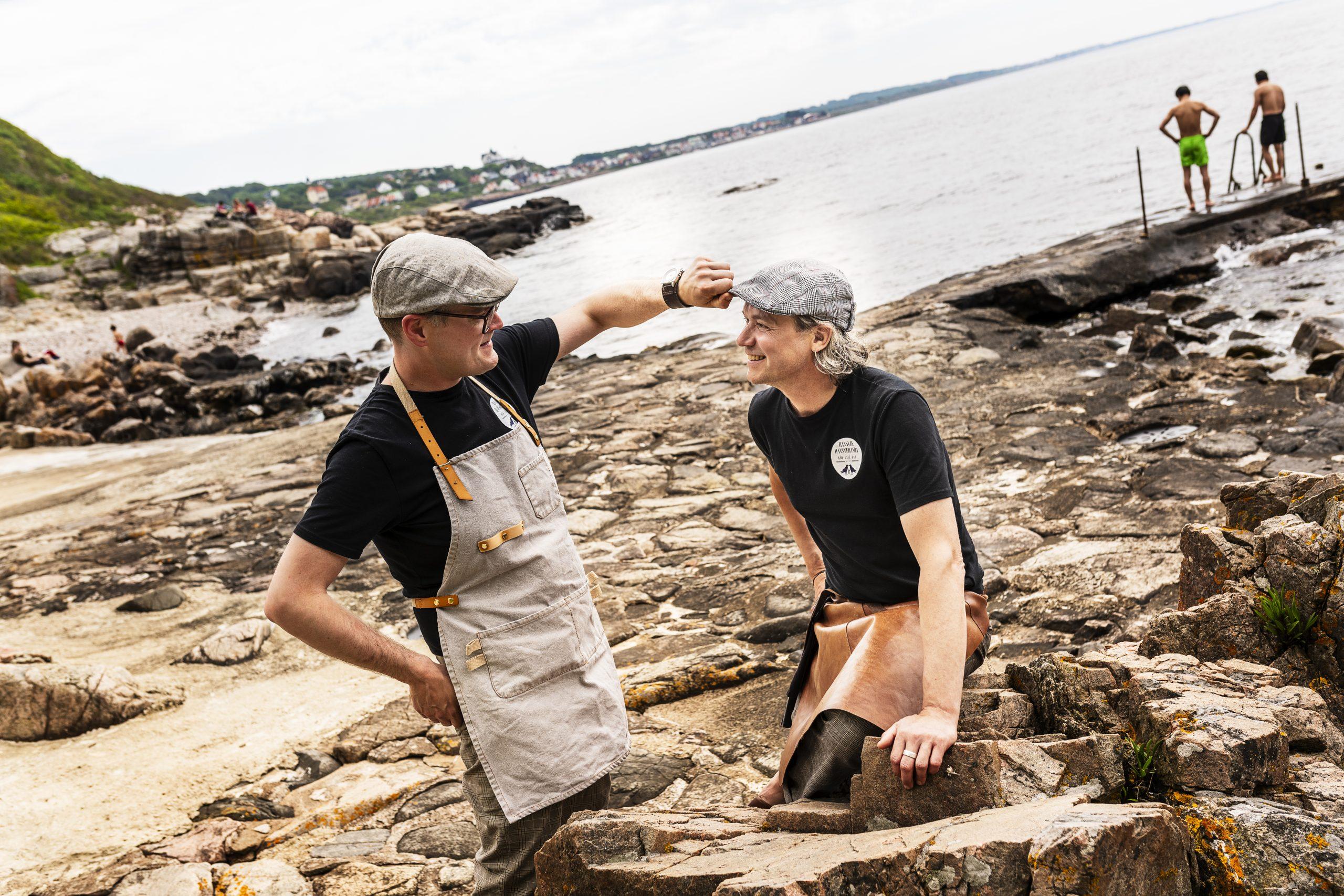 Andy och Matti på klipporna i Ransvik