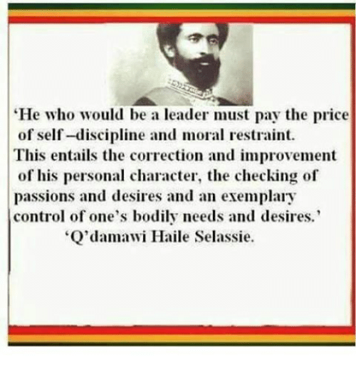 Teachings of H.I.M: Rastafari Speech on Leadership, How to be a leader
