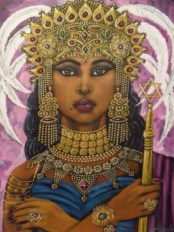 The Queen of Ethiopia comes to Solomon the King