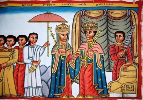 How the Queen of Sheba made ready to set out on her journey
