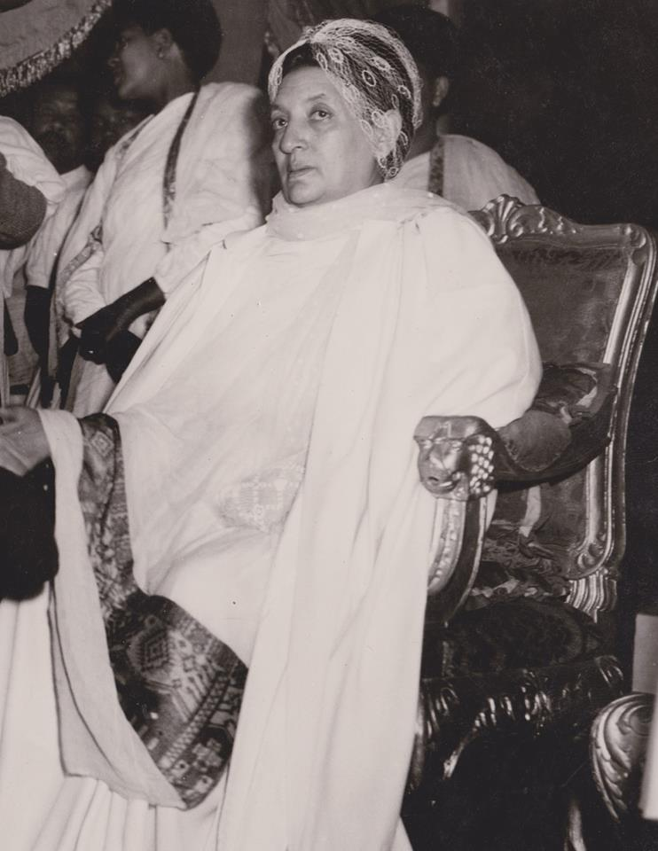 His Imperial Majesty Haile Selassie I on the passing of Empress Menen