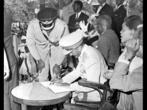 Haile Selassie I Laying Foundation Stone H.S.I. University