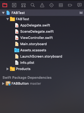 FAB Button Swift Package Manager
