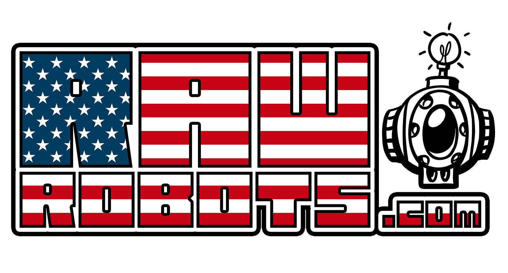 Logo_RawRobots_Fat flag USA