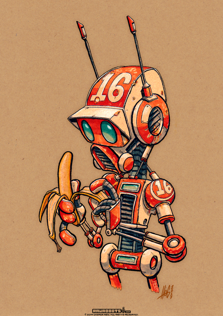 NR016 Banana! This Droid Is ready to go bananas! Because it has ap-peal! ?