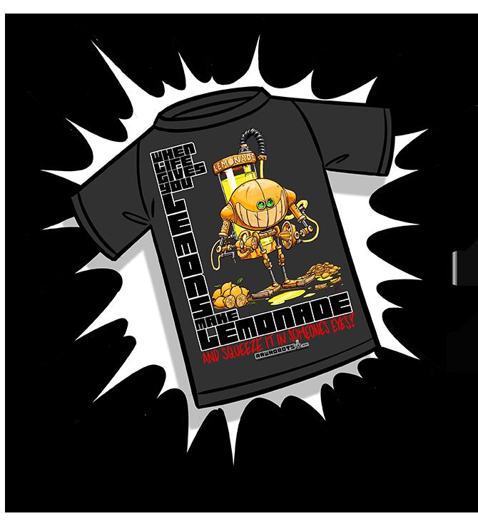 Toony, T-shirt, robot