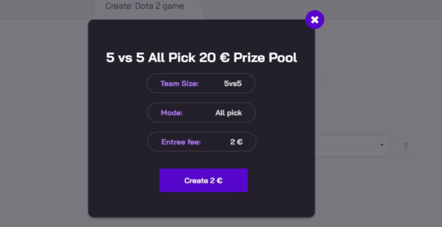 Create your own competition in Dota 2 and CS:GO with prize pools