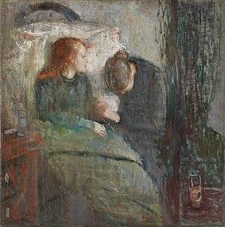 La niña enferma, primera versión de Edvard Munch.