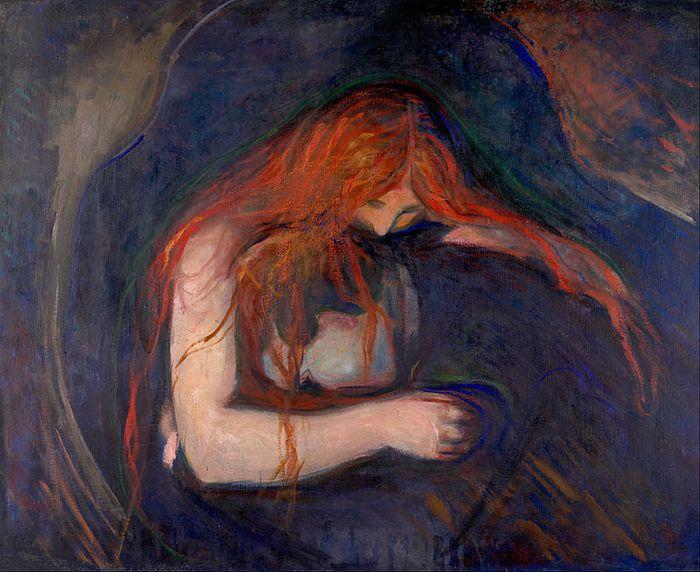 Amor y dolor, Edvard Munch.