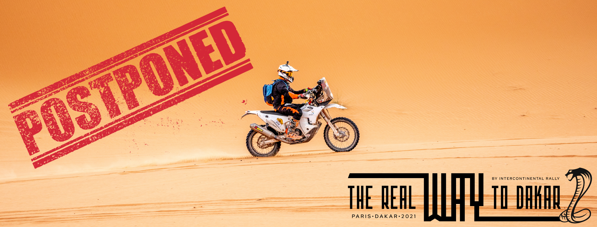 the real way to dakar 2021 has been postponed to 2022