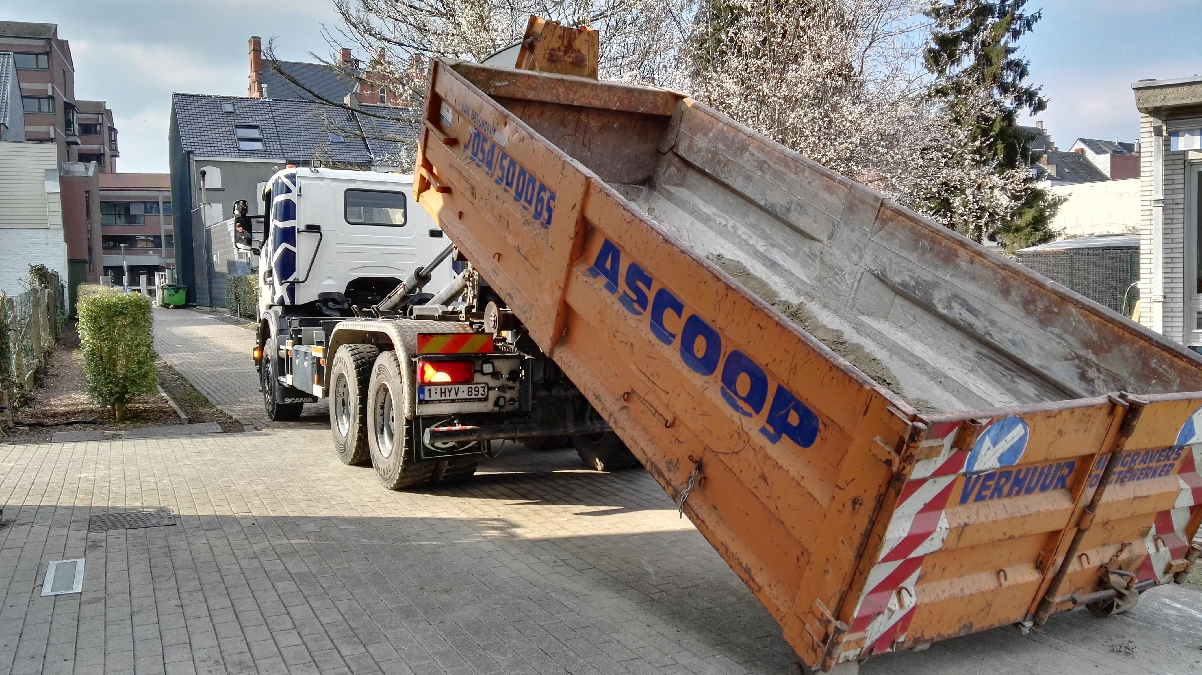 Verhuur van afvalcontainers