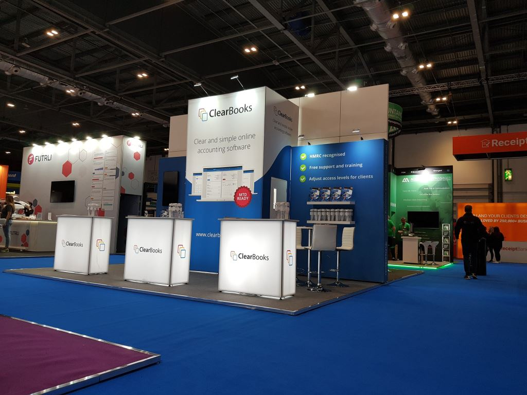 Clearbooks Exhibition Stand