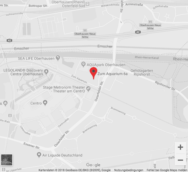 Google Maps Kartenausschnitt | Redshark Advertising in Oberhausen