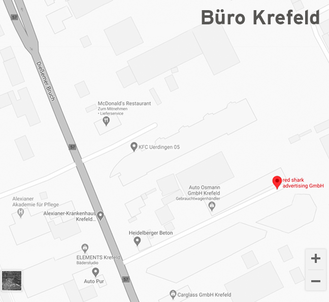 Anfahrt zu den Sharks in Krefeld