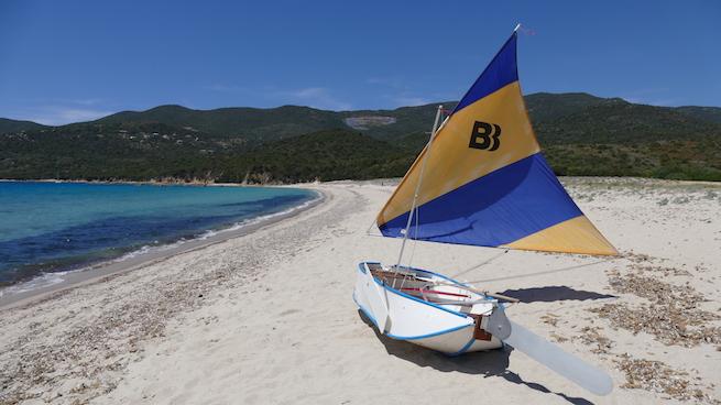 Campen auf Korsika Cupabia Banana Boot