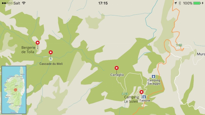 VW Bus auf Korsika Karte Tattone