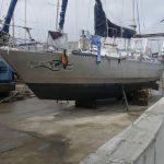 Anixi in der Bootswerft Cornwall