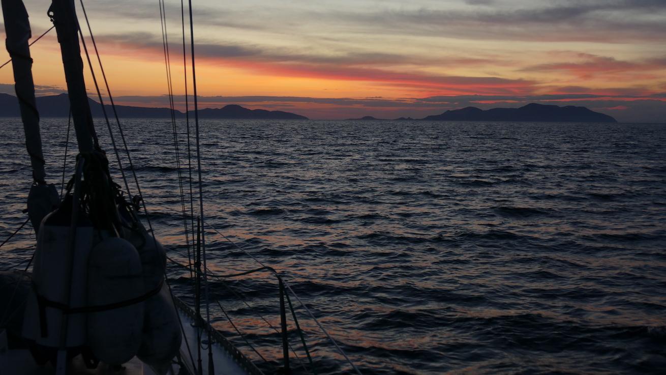 Sonnenaufgang Liparische Inseln