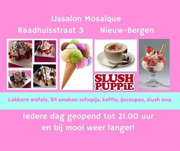 IJssalon Mosaique Nieuw Bergen