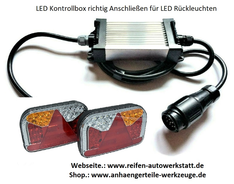 led kontrollbox für led rückleuchten