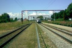 Toget fra øst forsætter i venstre spor mod Middelfart.