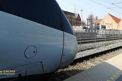 Tog  2738 mod Od togs ind i spor 2 for at et 17 min forsinket  ICL51044 skulle overhale.