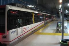 Opstillet tunnelbanetog.