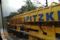 Spitzkes lange sporbyttestog arbejdede lige udenfor Slagelse.