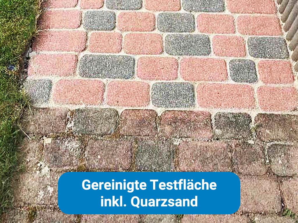 Gereinigte Testfläche inkl Quarzsand in Frankfurt