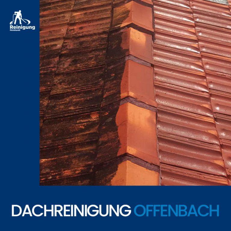 Vorher/Nachher einer Dachreinigung in Offenbach von Reinigung Meinhardt